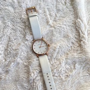 Marc by Marc Jacobs rose white watch